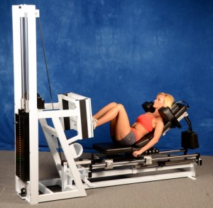 leg press squat position